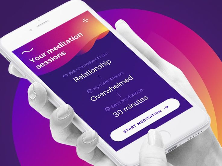 Meditation App  FREE SKETCH  Design iOSUp