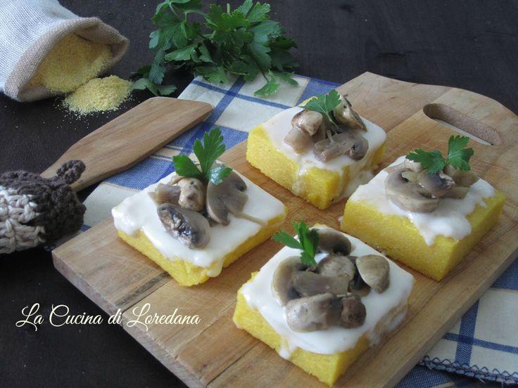 polenta con funghi e stracchino