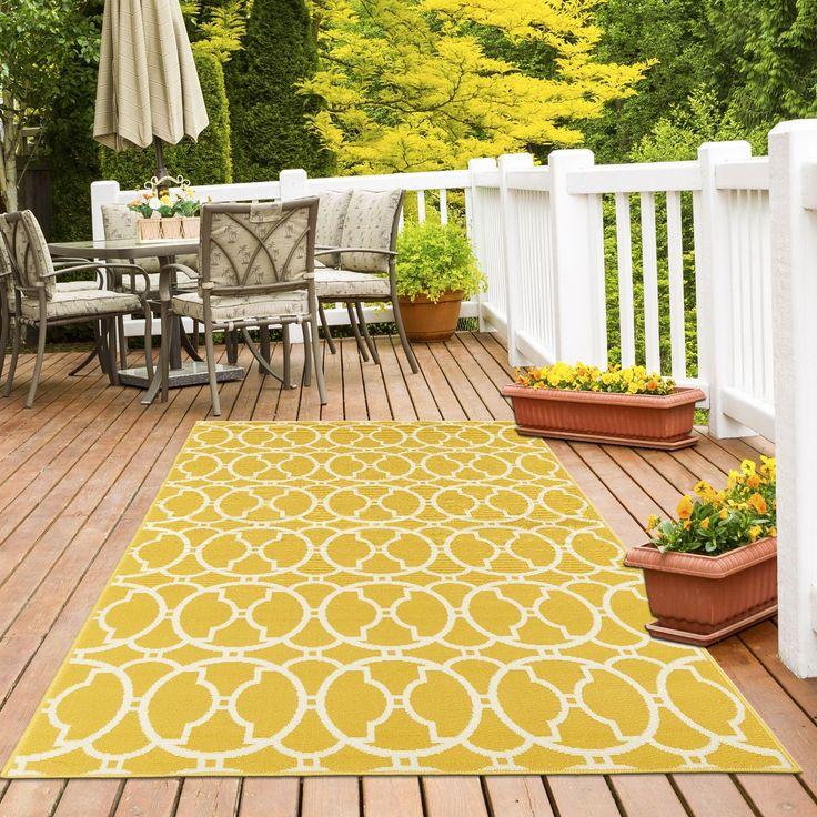 Floorita Vitaminic Yellow Indoor/Outdoor Area Rug | Wayfair.co.uk