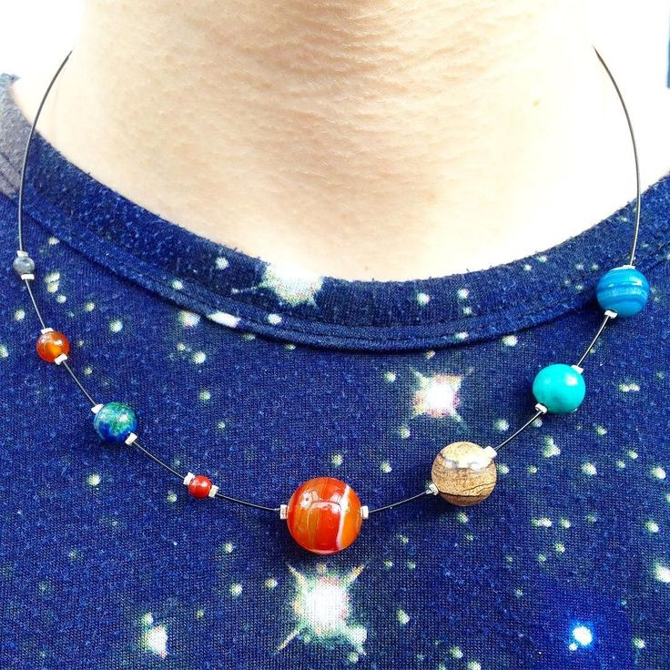 provocative-planet-pics-please.tumblr.com Solar System necklace on black made from semi-precious stones! available on my just opened Etsy shop! #cosmiccreations #handcraftedjewellery #solarsystemnecklace #planets #chloecreative #semipreciousstones #shoplocal #etsyjewellery #madeinbrighton by chloecreativejewellery https://instagram.com/p/9lj2wIubmx/