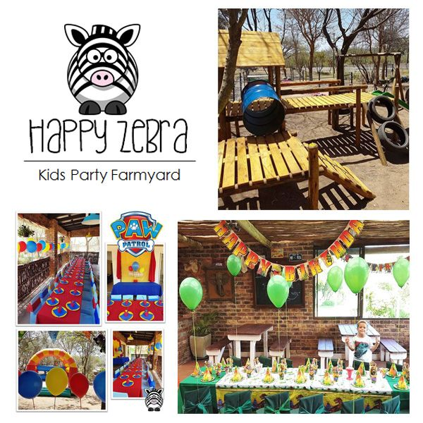 Happy Zebra Kids Party Venue is situated in an agricultural area, surrounded by horses, this Party Venue is the ideal getaway for nature lovers! Children can pet bunnies and see a variety of different farm animals such as ponies, pigs, geese, ducks, peacocks and chickens.  Enjoy an awesome party in one of our TWO EXCLUSIVE USE VENUES each with shared playground area with fun equipment.  Each venue is available for either morning or afternoon slots for 3 hours per party.  Full day…