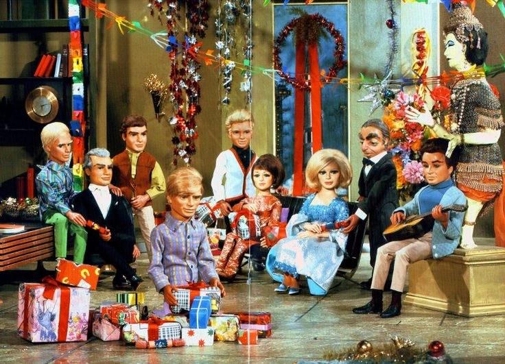 """Thunderbirds (1965-66. ATV) — Christmas scene from the episode """"Give or Take a Million"""" (Series 2 Episode 6, aired on December 25, 1966)"""
