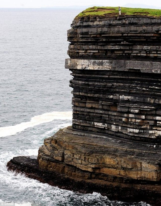 Sea stack, Downpatrick Head, in County Mayo, SOUTHERN Ireland