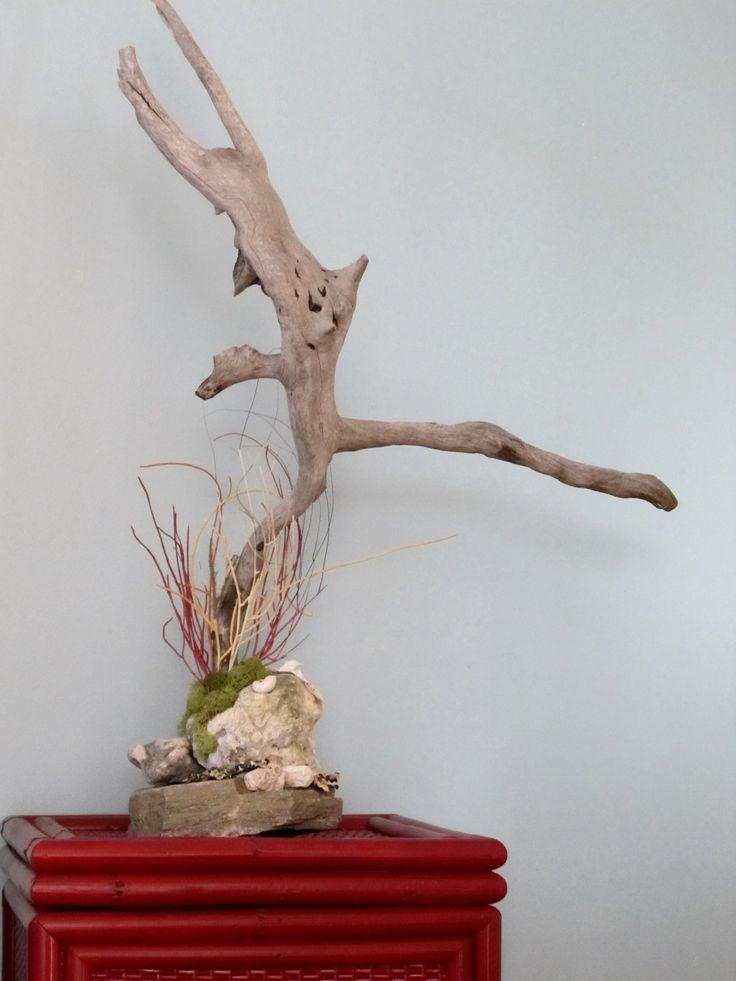 A Dancing Demon - Wood Sculpture. Artist: Carol Wutzl.