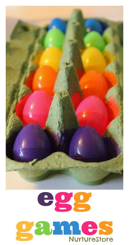 Fun ideas for Easter egg games for kids - nice Easter egg hunt ideas,  math and literacy ideas