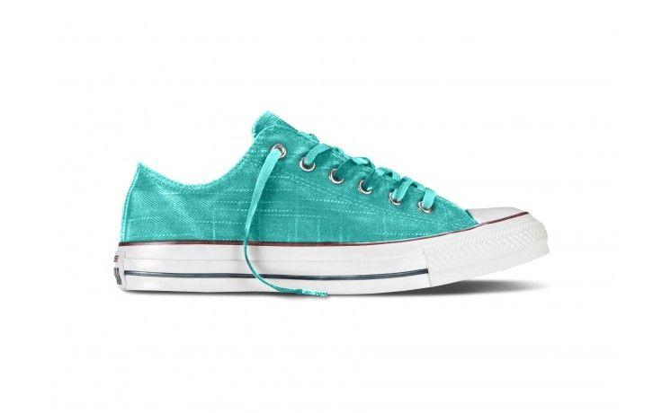 Converse All Star White Wash OX Turquesa #converse #moda #online #primavera #verano