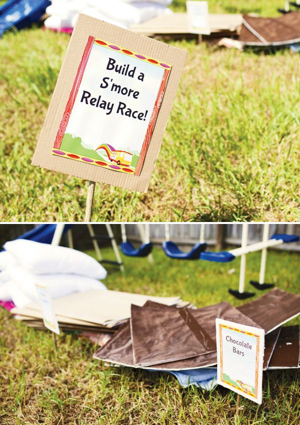 Creative Camping Party Activity: S'mores Relay Race!