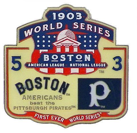 Classic Pins - 1903 World Series Commemorative Pin - Boston vs. Pittsburgh, $9.95 (http://www.classicpins.com/1903-world-series-commemorative-pin-boston-vs-pittsburgh/)