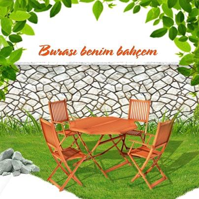Küçük , dar mekanlarda yerden tasarruf sağlayan katlanır ahşap bahçe mobilyaları hayatınızı kolaylaştıracak. Tüm Tekzen Mağazaları'nda. http://www.tekzen.com.tr/Magazalarimiz