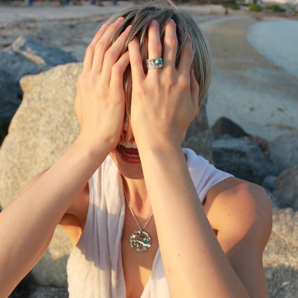 one of a kind #design - the Lunar pendant and ring from Pantheia - beauty from a simpler world - www.pantheia.com
