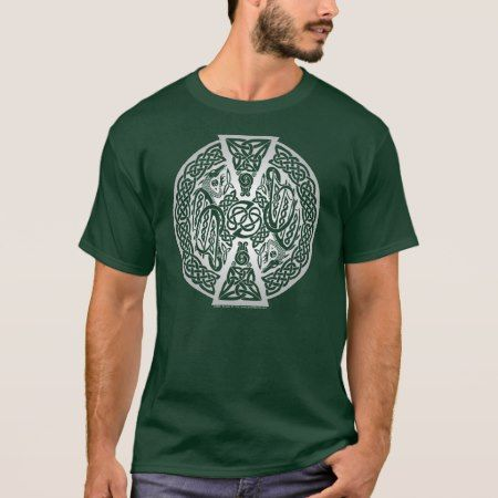 Silver Celtic Dragons T-Shirt - tap to personalize and get yours
