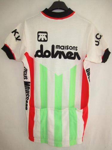 Maillot cycliste Vintage Maison Dolmen Descente Moussard cycles sport TBE - L