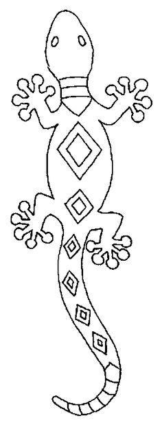 Austalia: Aboriginal Dreamtime (dot art) pattern lezard1.gif (304×794)