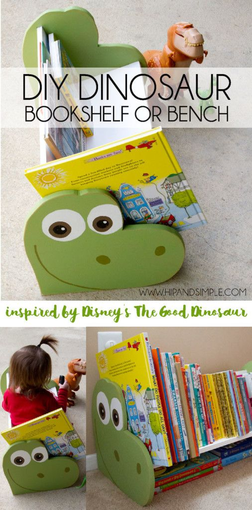 DIY Dinosaur Bookshelf and/or Bench inspired by The Good Dinosaur January 20, 2016 By: Jessikacomment