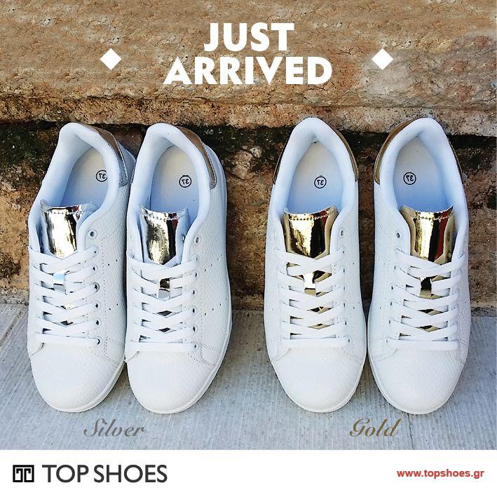Φέτος το χειμώνα....αγαπάμε λευκό! Ήρθαν και θα σας ξετρελάνουν! Φανταστικά sneakers sweet D με χρυσές και ασημένιες λεπτομέρειες!  White is the new... black!