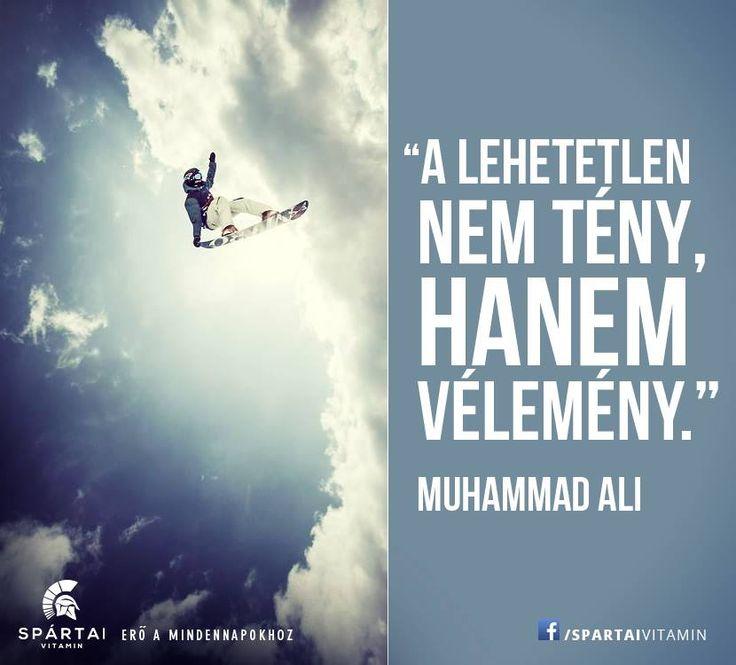 Muhammad Ali idézete a lehetetlenről. A kép forrása: Spártai Vitamin