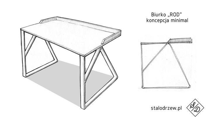 Desk ROD bureau à angles par Rafal Burczynski