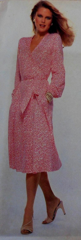 Vintage Vogue Wrap Dress Sewing Pattern American Designer Diane Von Furstenberg  $28.00