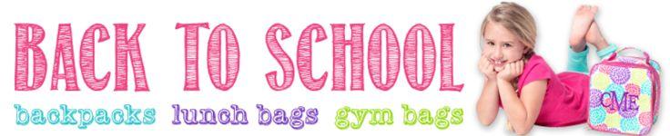 kids monogrammed backpacks
