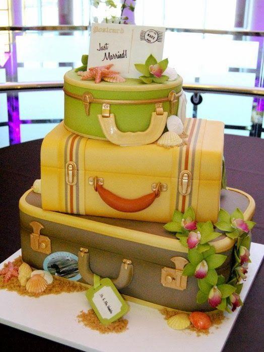 Traveler's suitcase cake.