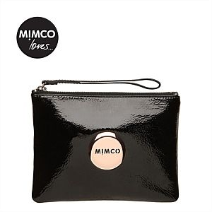 Lovely medium pouch - black/rose gold