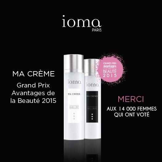 Grand Prix Avantages de la Beauté 2015 - MA CRÈME