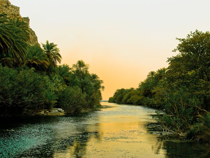 "Your Daily Moment of ""Go Slowly"" #Preveli #Beach, #South #Rethimno #Crete! www.cretetravel.com #Swimming #River #Holidays #Travel #TheCreteYouAreLookingFor"