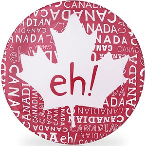 Canada Day paper plate