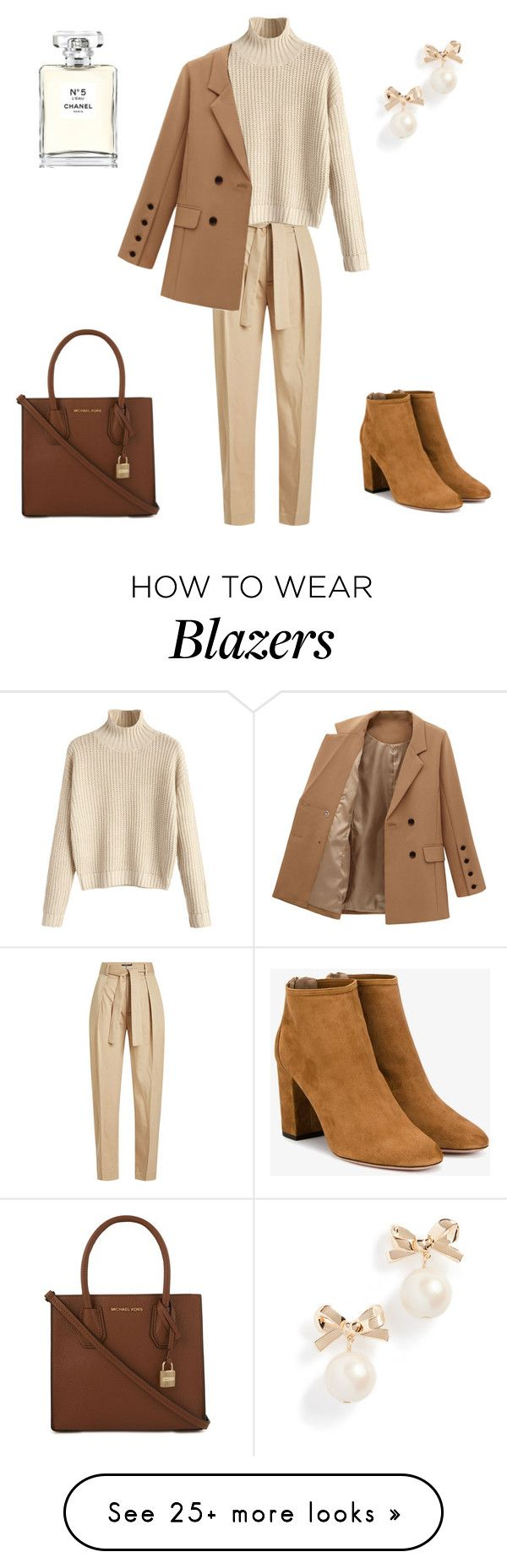 """Earth Colors!"" by maral-askari on Polyvore featuring Polo Ralph Lauren, Aquazzura, MICHAEL Michael Kors, Kate Spade and Chanel"