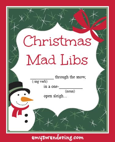 Practice those grammar skills with these FUN Christmas Mad Libs