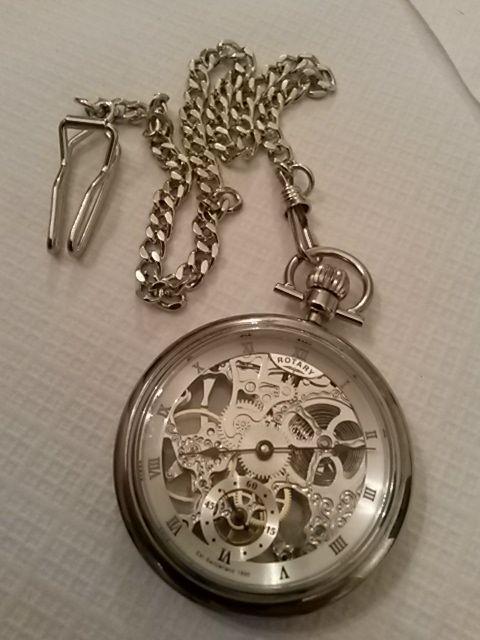 Rotary Pocket Skeleton Mechanical Watch (MP00723/21) - WATCH SHOP.com™