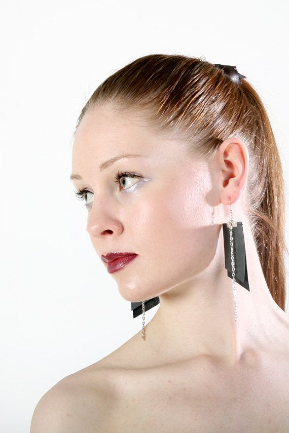 Fading earrings from upcycled material by PiiaMyllerDesign on Etsy, €15.00