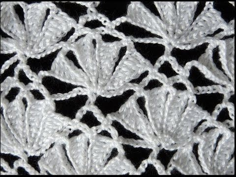 Crochet : Punto Fantasia # 6. Parte 1 de 2 - YouTube