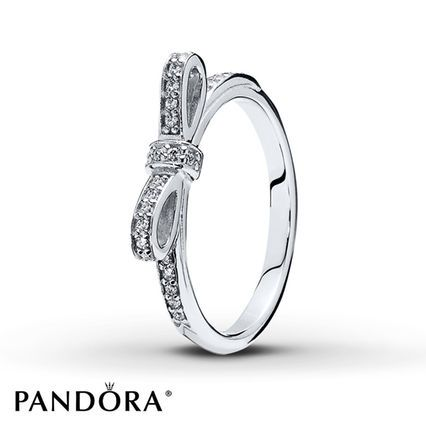 perfectly tied and traced in clear cubic zirconias a bow decorates this sterling silver ring for her from the pandora mothers day 2014 collection - Pandora Valentines Day Ring