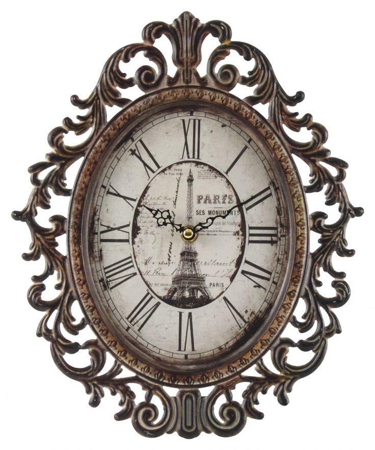 "düşük fiyata Retro Clock ""Bistro de Paris II"". Mevcut tüm saat retro ""Paris II de Bistro"""