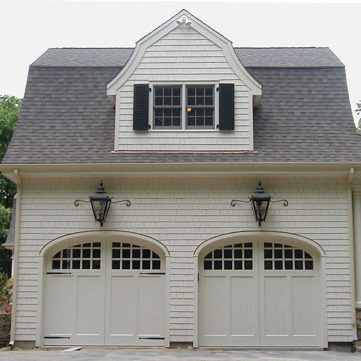 113 best garage door designs images on pinterest garage for Building a detached garage on a slope