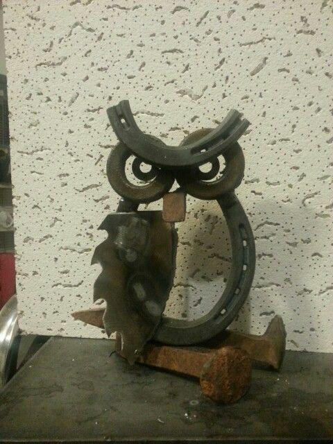 Owl Metal Art by Lou Braddy