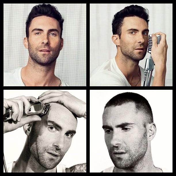 Adam Levine...miss his hair!