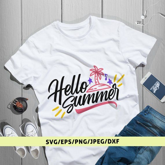 7d7ddcee5a2 Hello Summer Svg