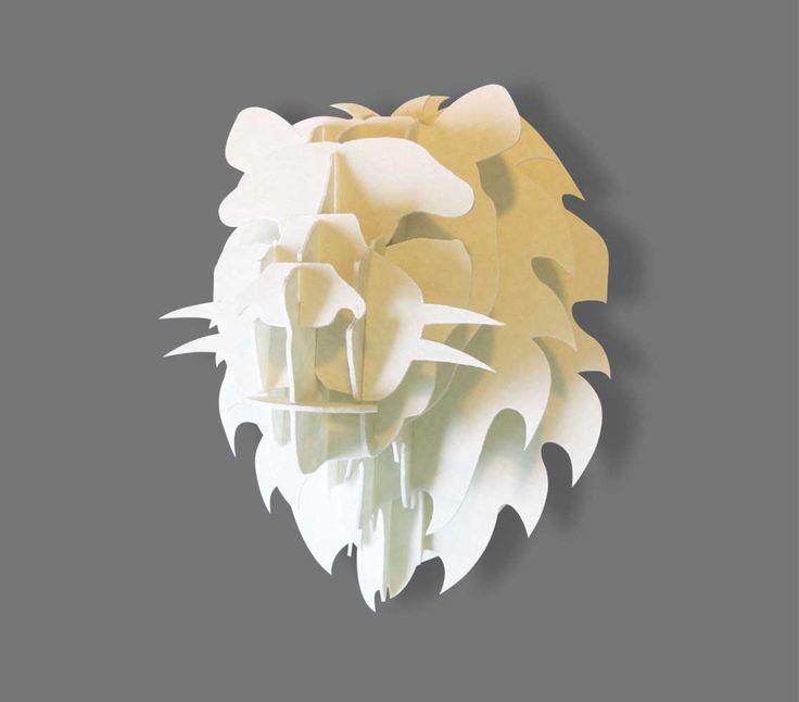 Mini lion trophy head