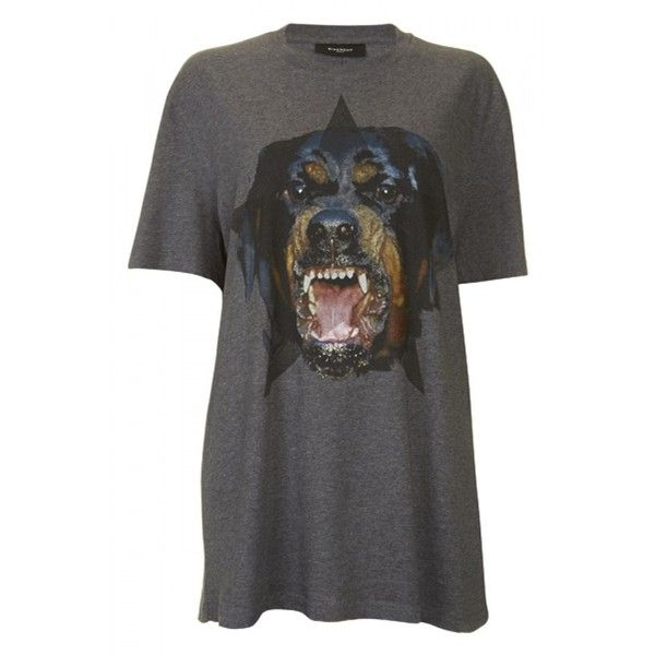 Givenchy Rottweiler Print Jersey T-Shirt ❤ liked on Polyvore featuring tops, t-shirts, shirts, print top, jersey shirts, t shirts, givenchy and print shirts