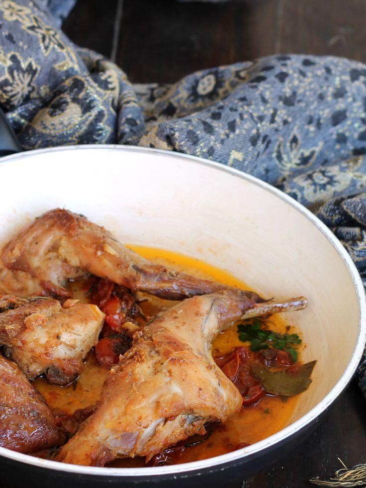 CONIGLIO ALL ISCHITANA ricetta originale tipica secondo piatto