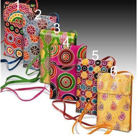 Borsette colorate in stile spagnolo - Pelle e cotone