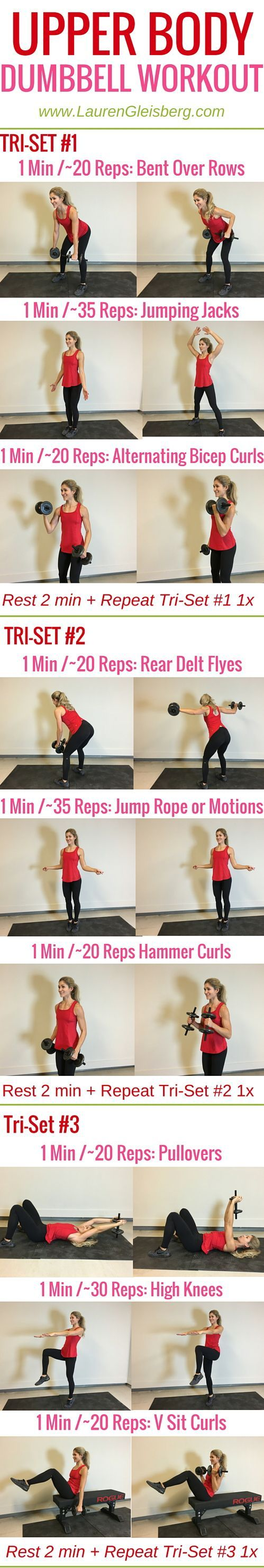 Week 4 Day 5 | Home Version | Upper Body Dumbbell Workout | #LGFitmas Lauren Gleisberg: