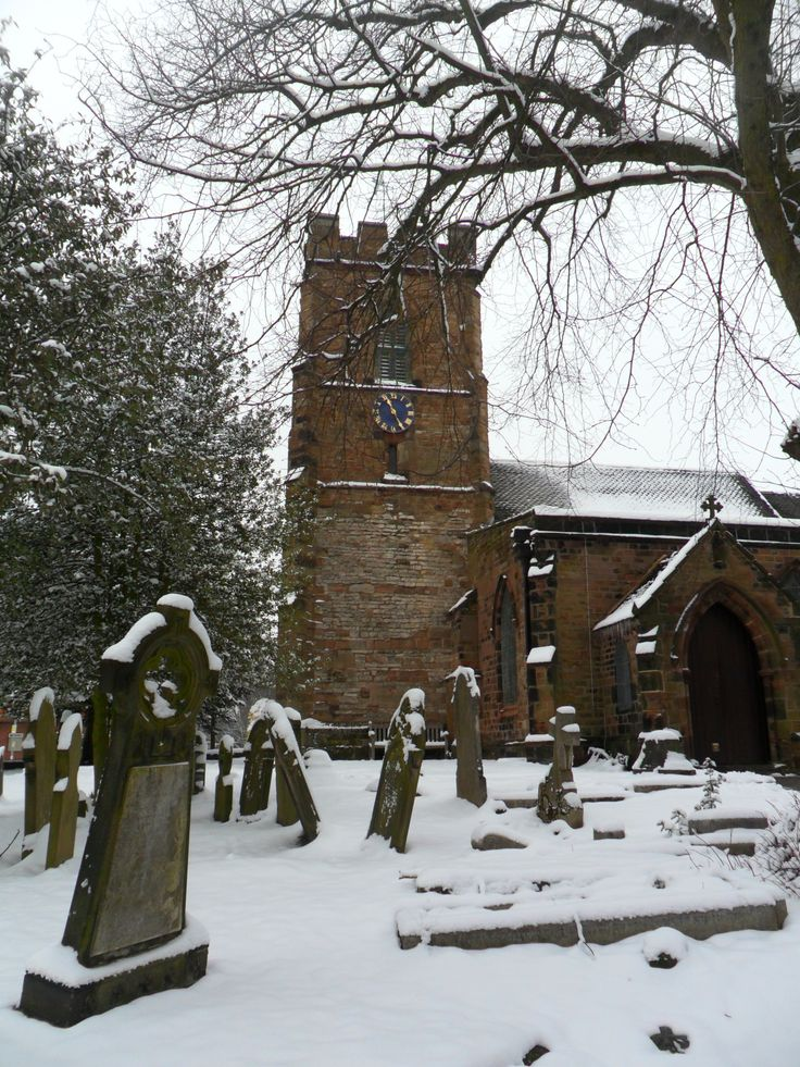 St. Mary's parish Church in the snow, Aldridge, Walsall, England (All Original Photography by  vwcampervan-aldridge.tumblr.com) — FUCKITANDMOVETOBRITAIN