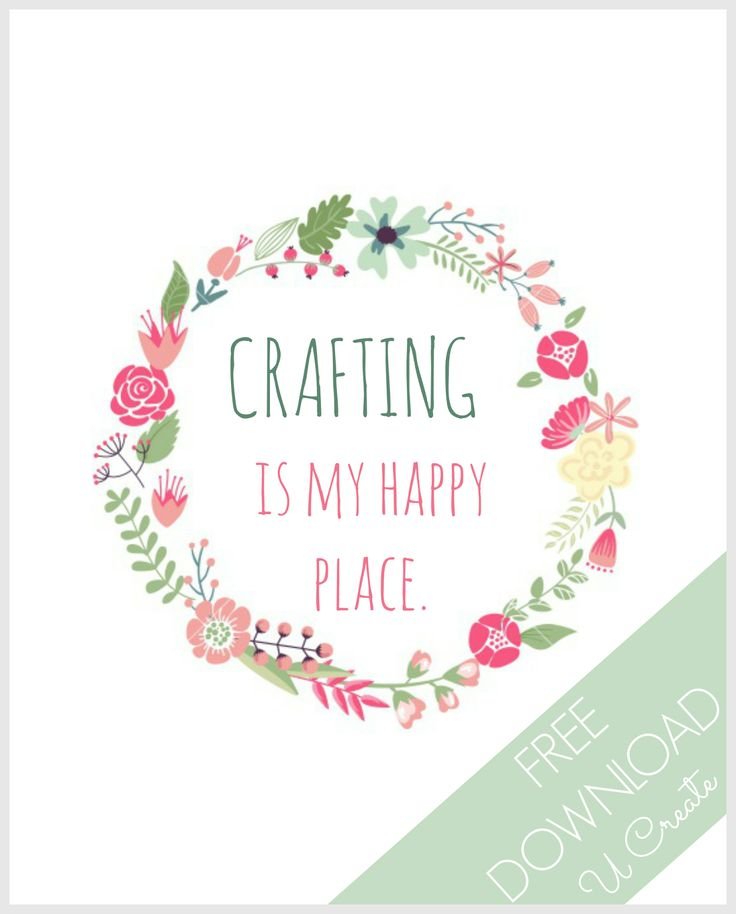 Free Printables: Happy Place - other versions available, too!