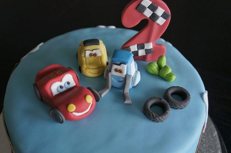 Lightning McQueen, Guido, Luigi from Disney Cars