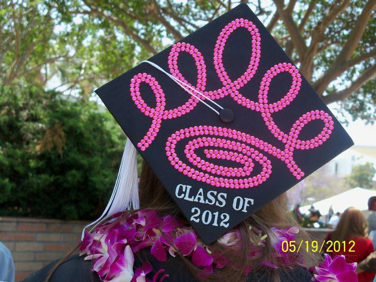ZTA rhinestone graduation cap