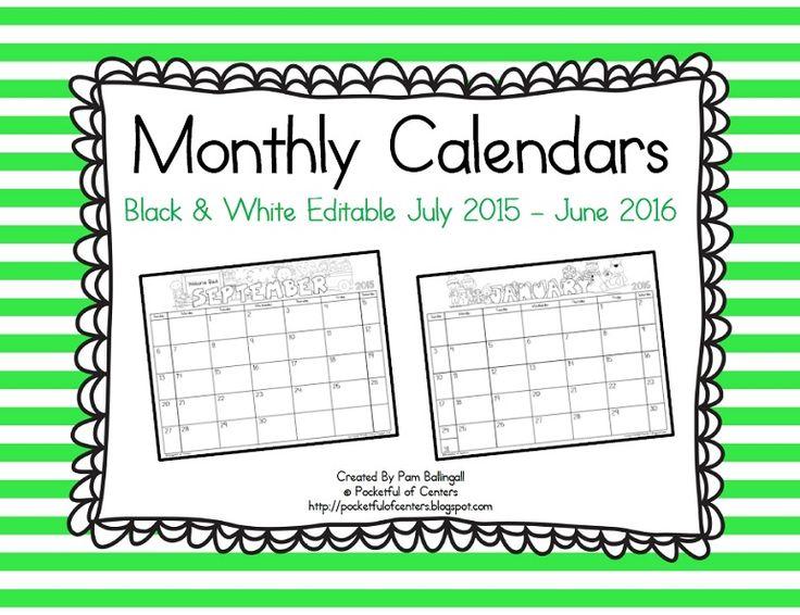 17 best School Ideas images on Pinterest Monthly calendars