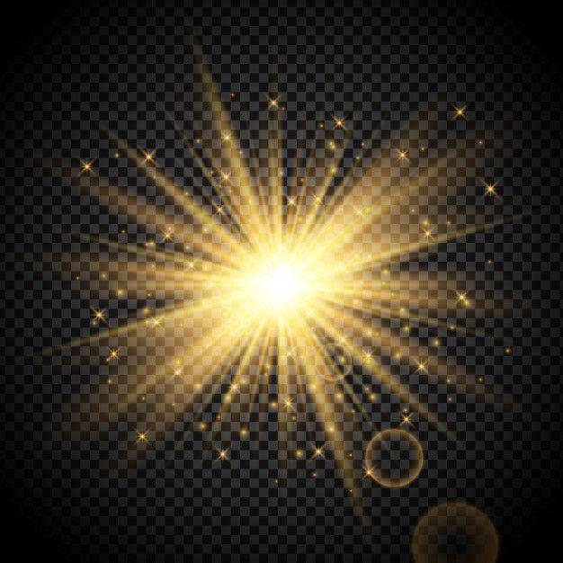 Download Gold Starburst On Transparent Background For Free